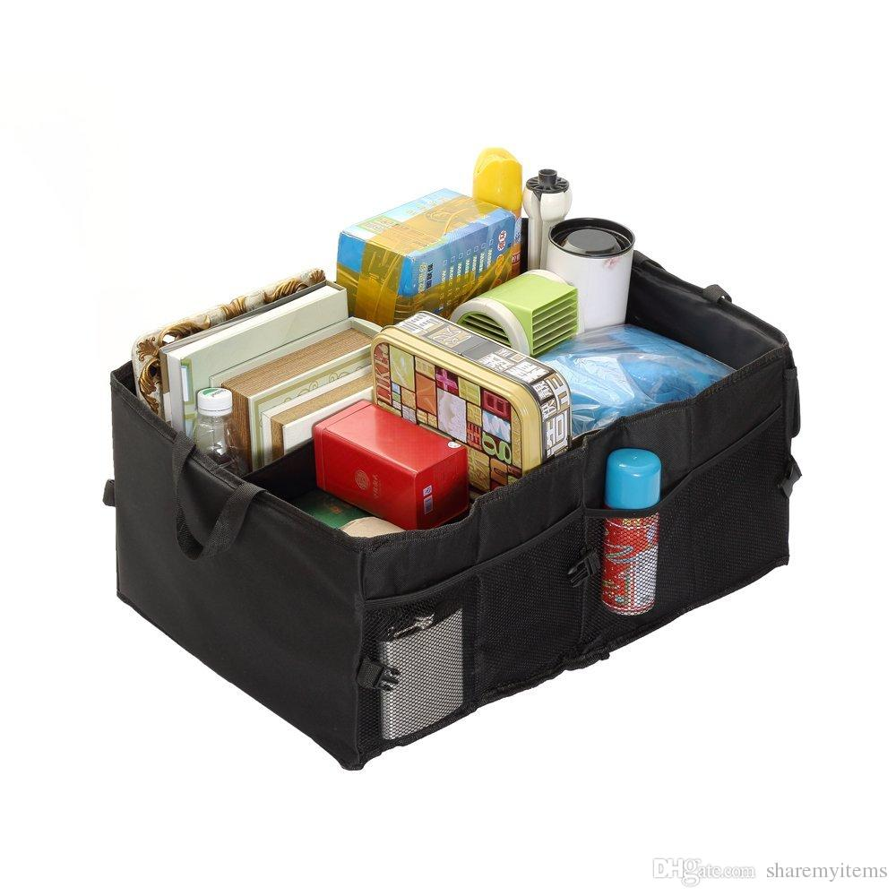 Foldable Car Trunk Organizer Cargo Storage Container With Rigid