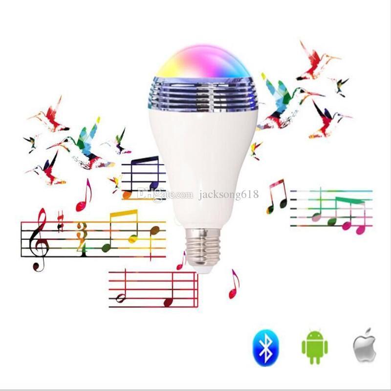 Wireless Control Speaker Smart Music Audio Speaker LED RGB Color Bulb Light Lamps E27 bluetooth speakers wholesale