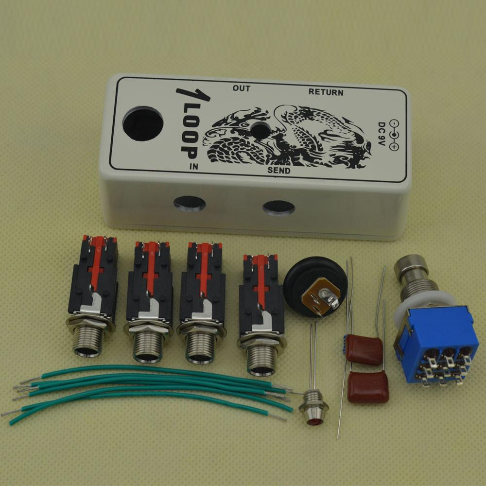 2019 new diy mini true bypass looper effect pedal guitar effect pedal looper switch kits white. Black Bedroom Furniture Sets. Home Design Ideas
