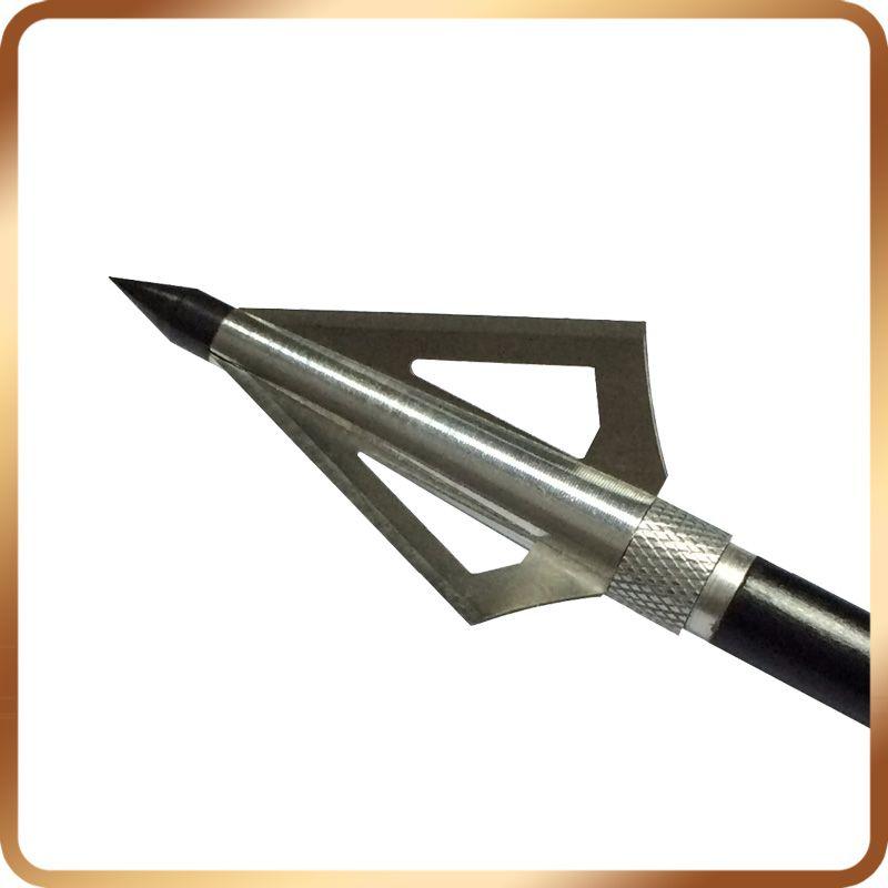 Hot Sale 12Pcs/Lot 125Gr Silve Steel Archery Hunting Arrowheads For  Crossbow Bolts Broadheads Arrow Accessories Free Shippi