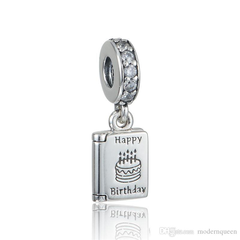 Birthday Wishes dangle charms beads S925 sterling silver fits for DIY bracelets 791723CZ H9