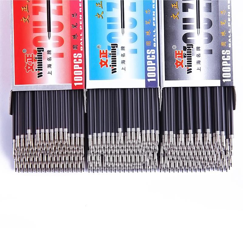 20 Teile / satz 0,7mm Kugelschreibermine Schwarz Rot Blau 3 Farben Bürobedarf Escolar Schreibfeder Hohe Qualität Mb Roller