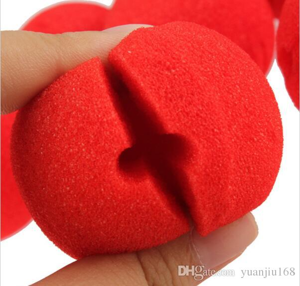 Fun Red Nose Foam Circus Clown Nose Comic Party Supplies Halloween Accessories Costume Magic Dress Party Supplies G804