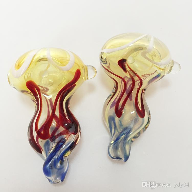 New glass pipe for smoking hand pipes about 7.5cm in Length wonderful colorful appearance glass pipes tobacco vaporizer