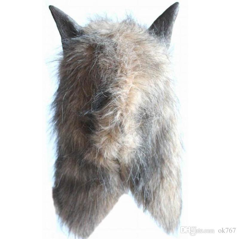 Werewolf Halloween Mask Big Bad Wolf Adult Full Head Wolf Mask Costume Accessory Party Masks