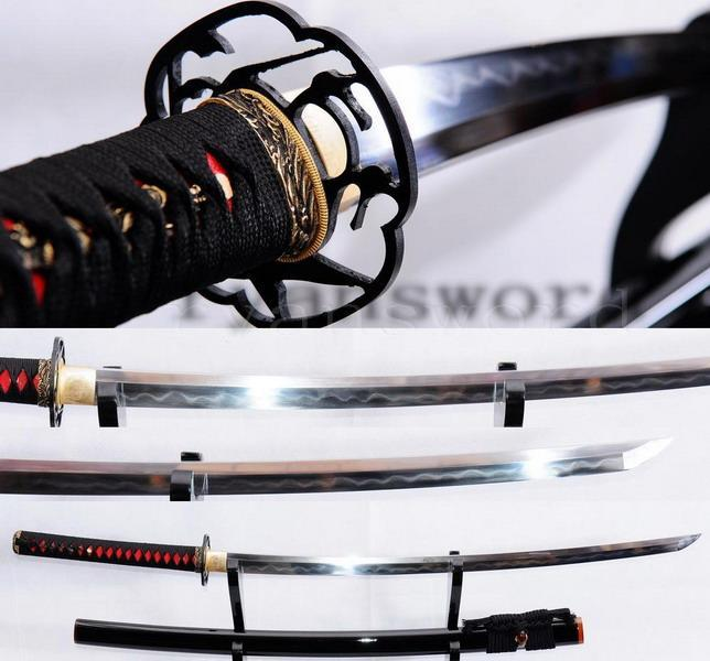 High Quality Clay Tempered Japanese Honsanmai Samurai Sword Katana sj04