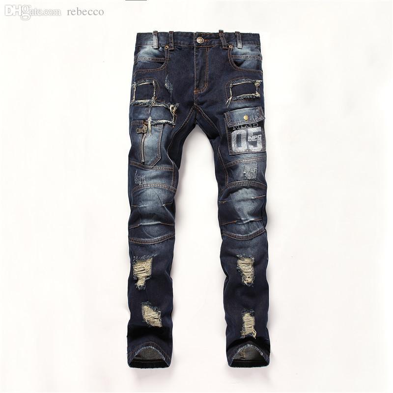 332171b56c5c6 2019 Wholesale Locomotive Jeans Pants Autumn Winter New 2016 Male Jeans  Famous Men S Jeans Light Color Long Pants Pantalones Vaqueros Hombre From  Rebecco