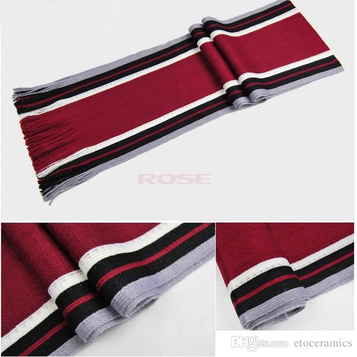 Sciarpa a righe invernali da uomo vintage Nappe Sciarpe lunghe Pashmina scialle di lana sintetica classica lunga sciarpa