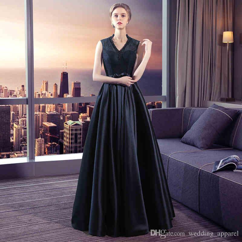 2017 New In Stock Elegant Evening Gowns Women Prom Evening Dress ...