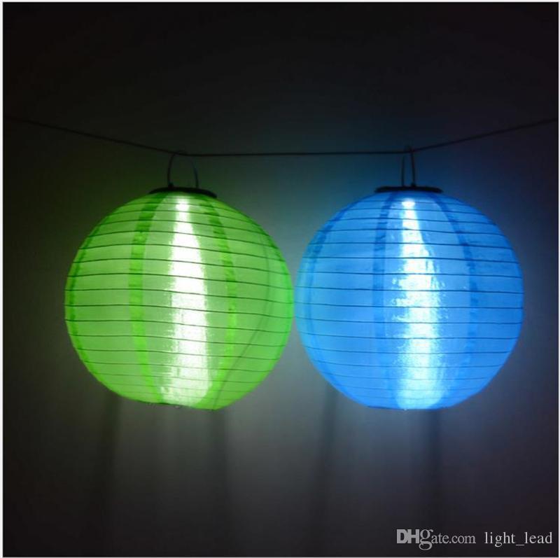 30CM LED Solar Lanterns Outdoor Waterproof Solar Hanging Lights Festival LED Hanging Lanterns Chinese Celebration Lights