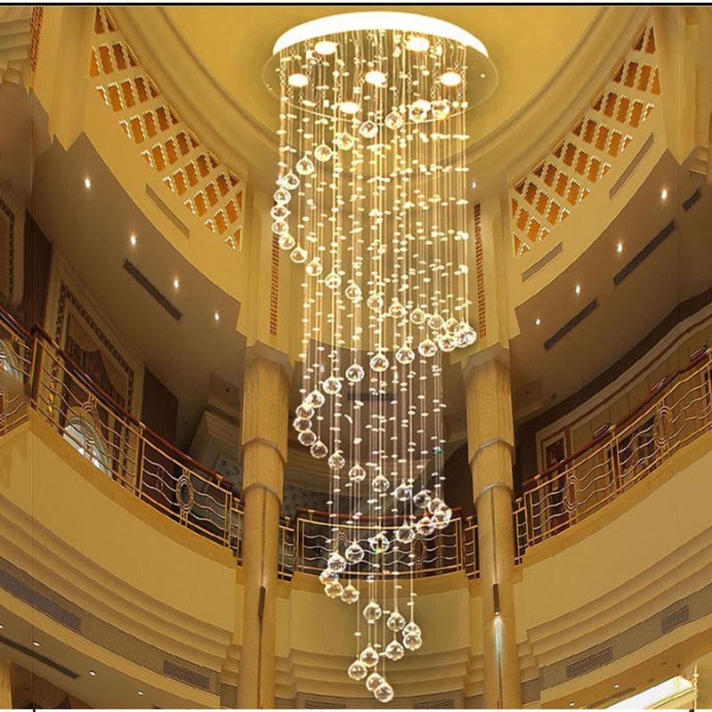 vallkin modern clear spiral sphere led lustre crystal chandeliers