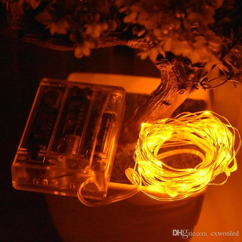 Copper String Light 2m 20led 4m 40led 3AA Battery Yellow Warm White Red Blue Green RGB colorful for Christmas Holiday