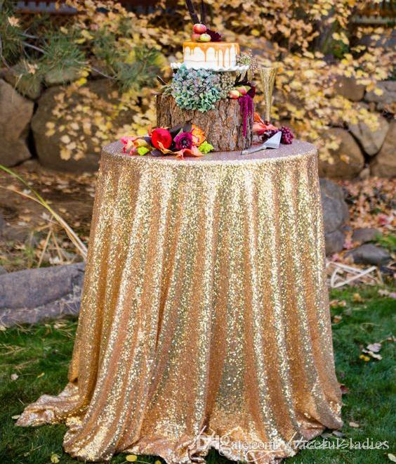 """Glitter Sequin Table Overlay 50"""" x 50"""" Table Cloth for Wedding Decoration Table Cloth For Wedding Supplies"""