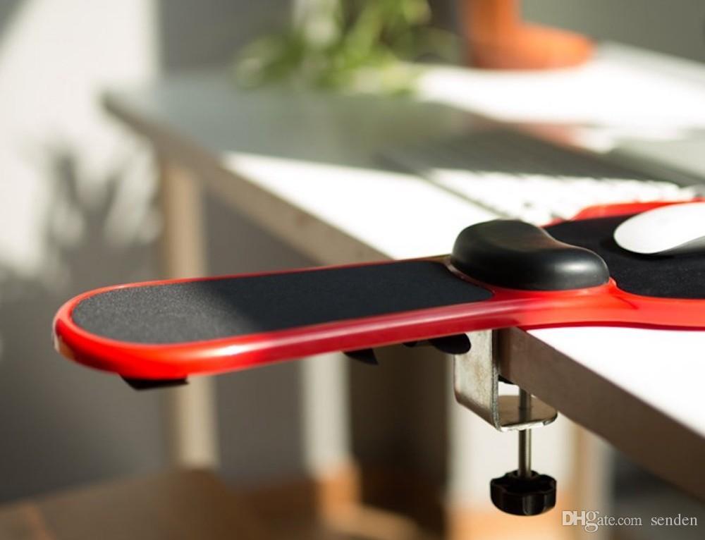 New Top Ergonomic Memory Foam Armrest Mouse Pad Rotatable Adjustable Computer Desk & Chair Extender Armrest Wrist Rest for Home&Office relax