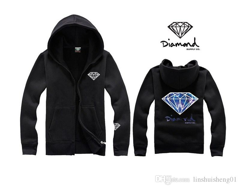 2017 New Style Lettering and diamond print Men hoodie women street fleece warm sweatshirt winter autumn fashion pullover