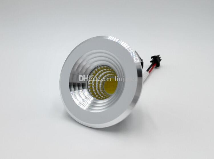 Factory Wholesale price COB 5W Warm Cold White mini Dimmable recessed led cabinet light Led downlight AC85-265V