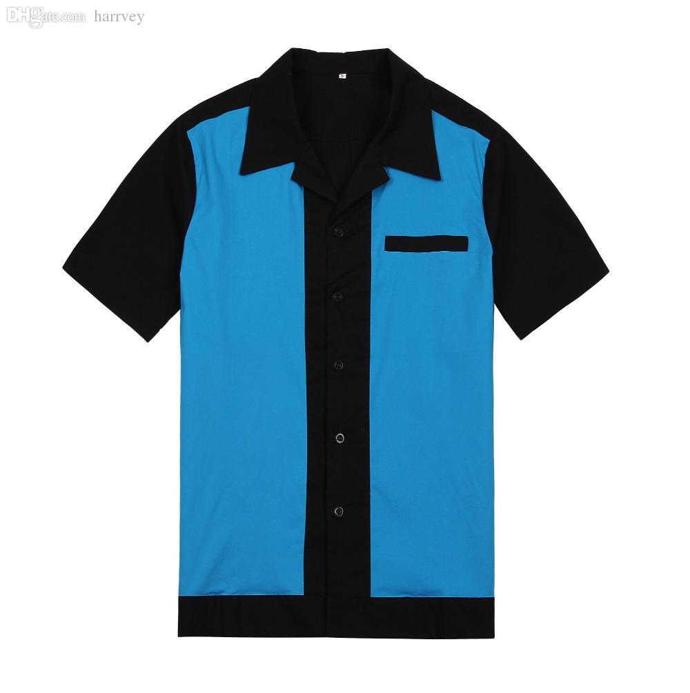 2019 Wholesale Shirts Online Party Clothes Men Vintage Design