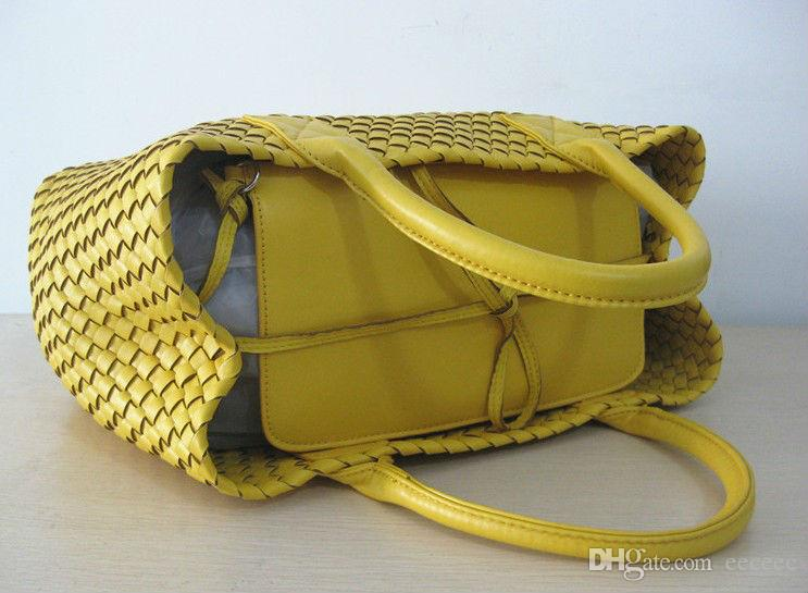 Brand New Woven Leather Like Cross Stitch Hobo Large Handbag Women's Fashion Woven bag Purse Casual Tote
