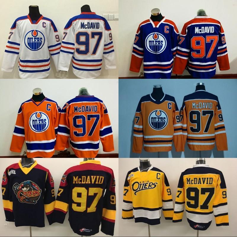 cheap for discount 0ecff 9d337 Mens Edmonton Oilers Jersey Captain C Patch 97 Connor McDavid 99 Wayne  Gretzky 44 Zack Kassian 29 Leon Draisaitl Hockey Jerseys