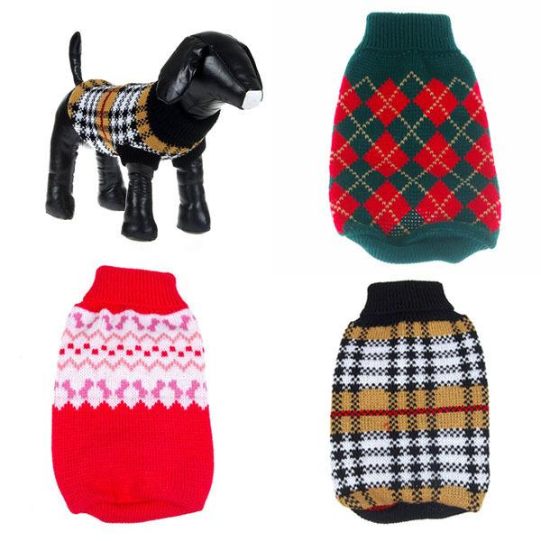2018 Wholesale Pet Dog Sweater Warm Knitting Crochet Clothes For Dog ...