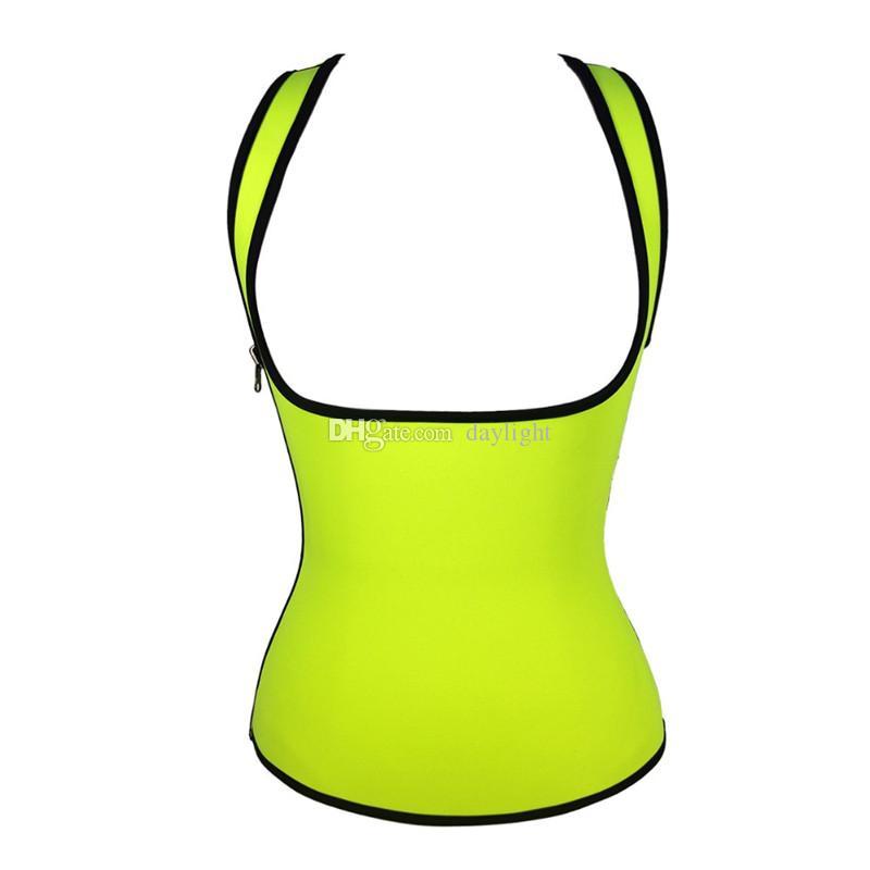 Neopreno que adelgaza la talladora del cuerpo atlético Tank Top chaleco deportivo para mujer VWorkout que forma la cintura Cincher Trainer Shapewear talla más Corsé del entrenamiento de la cintura