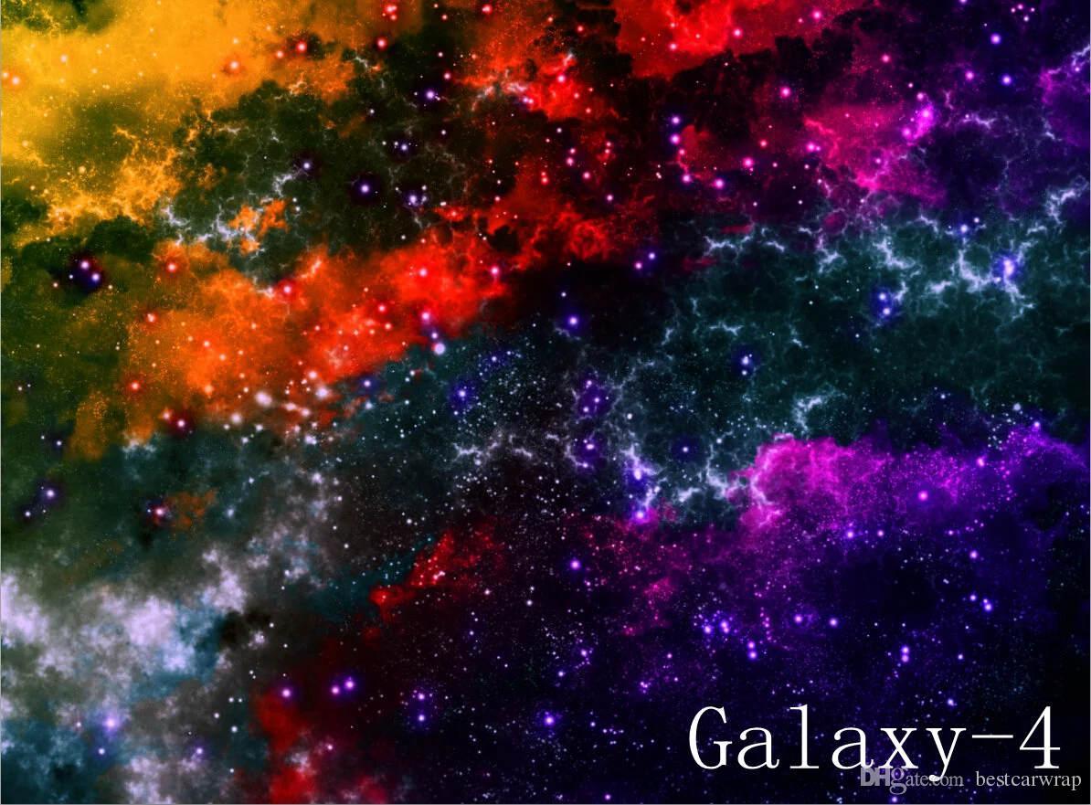 Heiß ! Galaxy Vinyl Wrap Stickerbomb Sternenhimmel Vinyl Car Wrap Film Aufkleber Bombe Aufkleber mit luftblasenfreier Grafikfolie 1.52X30M / Rolle 5x98ft