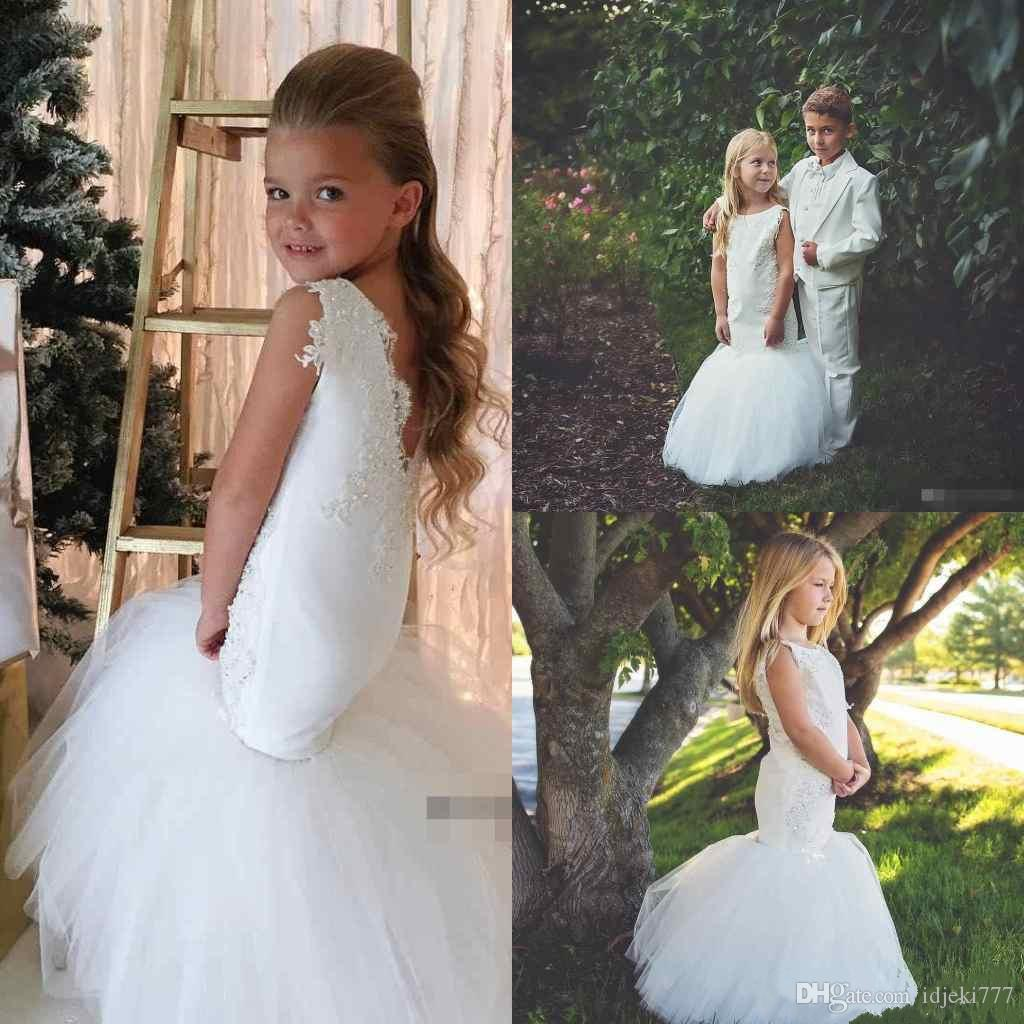 Adorable Mermaid Flower Girl Dresses Special Occasion For Weddings