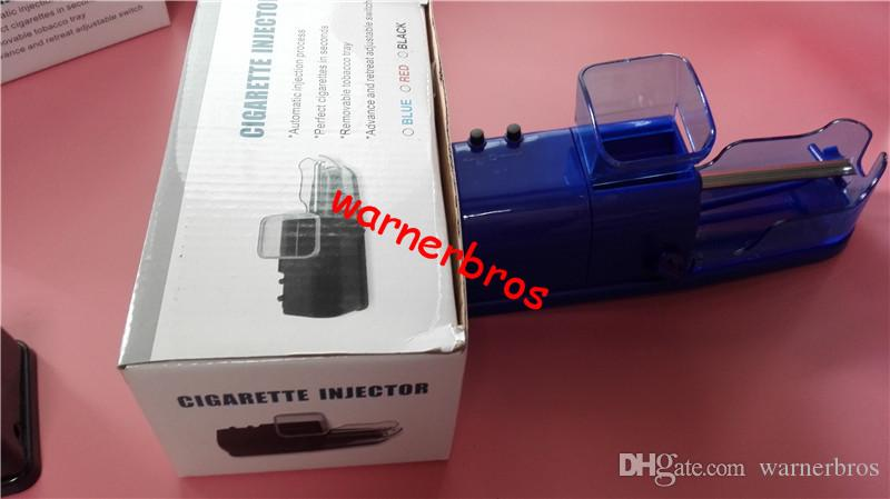 epacket USA France automatic tube filling cigarette injector roller tobacco maker electronic cigarette rolling machine