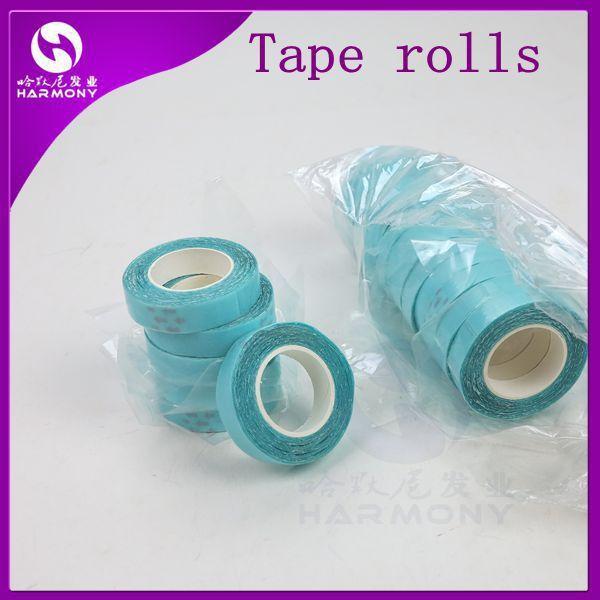 2 Rolls /1cm*3m Blue Color Super Tape Lace Wig Glue Tape For Hair Extension
