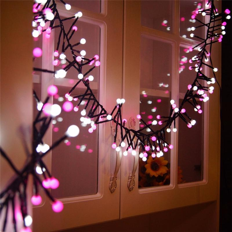 led string light curtain 3m 400 led christmas lights waterproof decorative string light 8 modes for christmas garden wedding party string bulb lights string