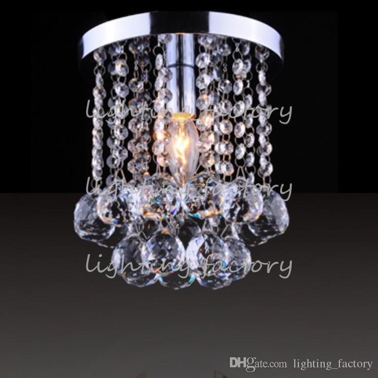 Lampadario in cristallo chiaro Mini Lampadario Piccolo cristallo trasparente Lustre Lampada corridoio Corridoio Luce corridoio