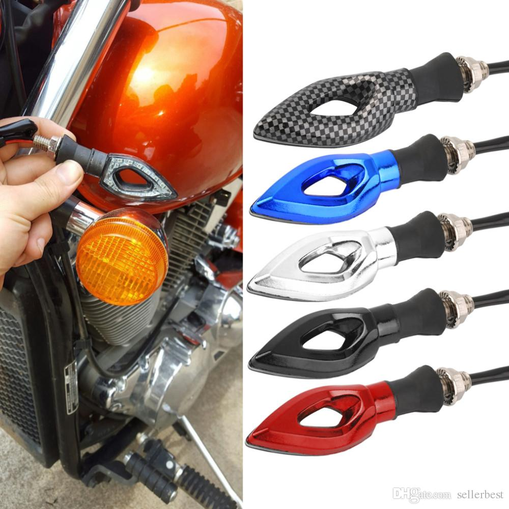 12 LED SMD Mini Motocicleta Motorbike Seta Indicadores de Sinal de Turno Blinker Âmbar Luz 12 V Universal para Honda para kawasaki