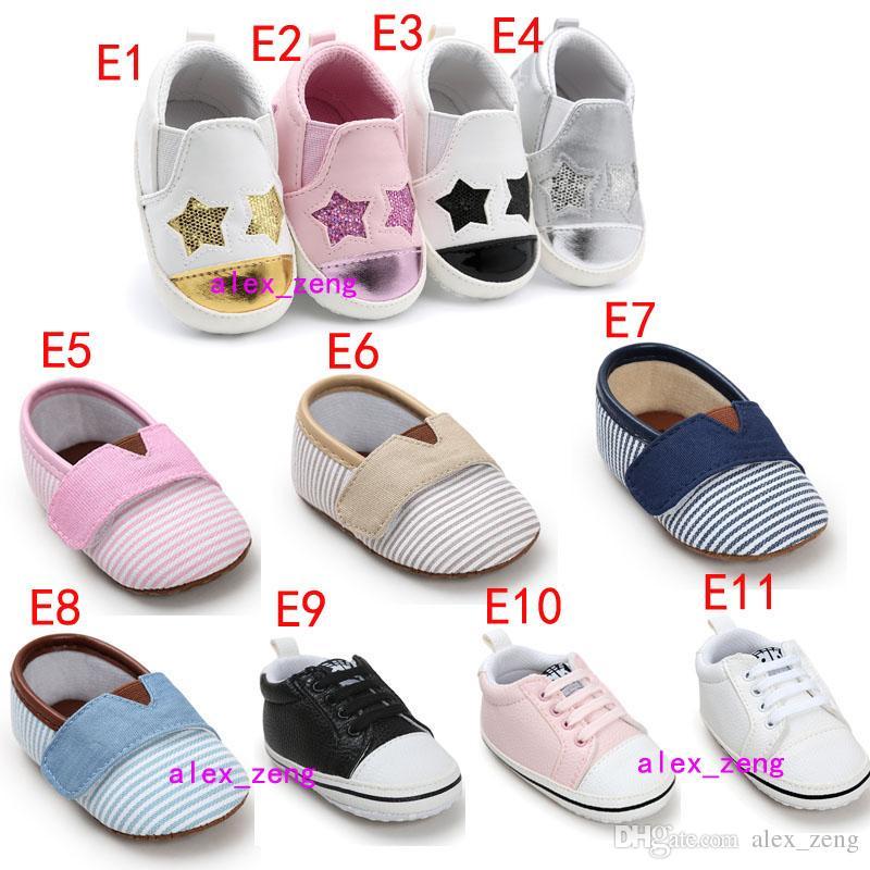 멀티 스타일 아기 신발 Non-slip Soles 아기 보이 아기 소녀 신발 캔디 색 첫 워커 신발 패션 다채로운 활 술 아기 쇼