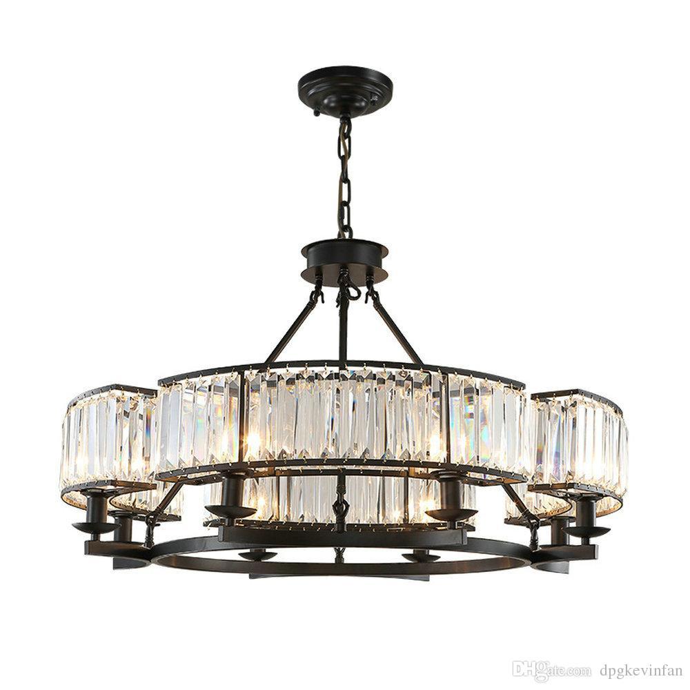 Grosshandel Vintage Loft Stil Kristall Leuchte Bronze Schwarz