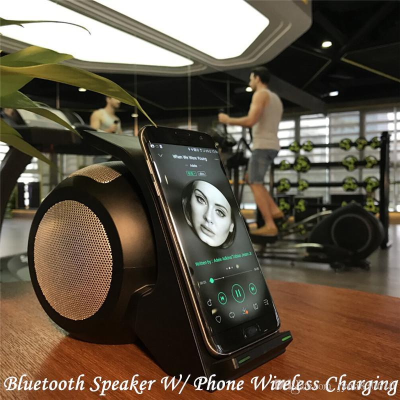 2016 Mais Novo Portátil Bluetooth Mini Speaker com Estação de Carregamento Sem Fio QI Doca Compatível para Telefone Inteligente