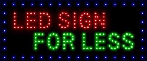 2016 Oferta especial de venta directa Gráficos 15 mm 15.5X27.5 pulgadas SIGNO LED PARA MENOS señalización abierta de neón