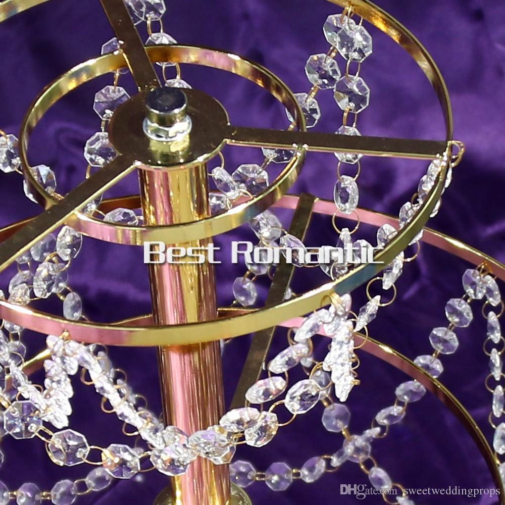 2 слоя Sky Wheel акриловый Кристалл свадьба Центральным / стол Центральным / свадьба высокий / свадебные люстры, Свадебный декор