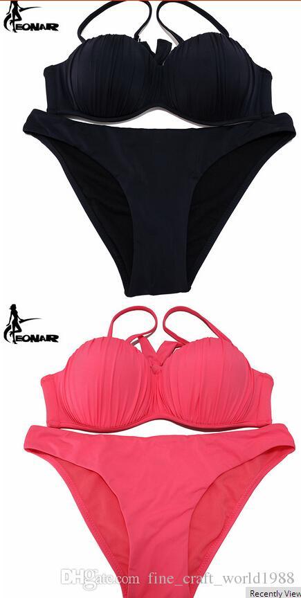 New Swimwear 2019 Top Wavy Push Up Bikini Sexy Bikini Set Brazilian Bikinis Women Bathing suits Swimsuits Plus Size Swimwear XXL
