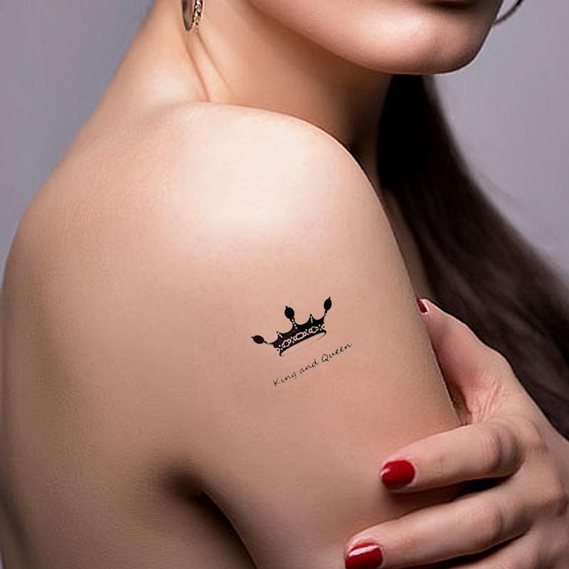 Body Art imperméable élégant autocollant de tatouage temporaire étanche couronne impériale