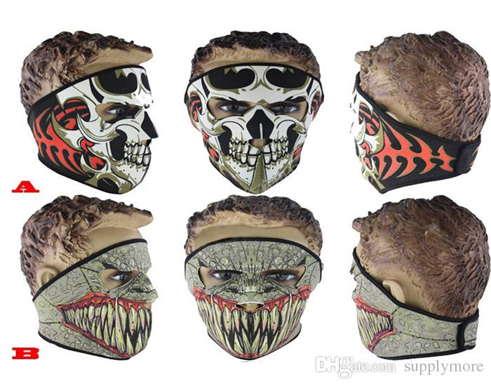 Festive & Party Supplies Black Ghost Face Mask Bike Bicycle CS Cosplay Sports Balaclava Skull Hood New