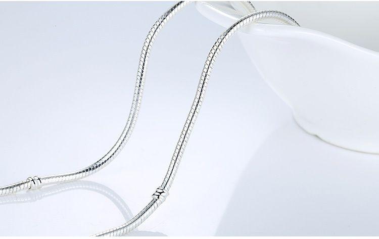 45 سنتيمتر 4 أنماط 925 الفضة مطلي قلادة الأفعى سلسلة مع قفل صالح الأوروبي الخرز باندورا قلادة مع شعار ديي