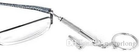 2016 New Brillen Schraubendreher 3in1 Sunglass Uhr Reparatur Kit Mit Schlüsselanhänger Tragbare Schraubendreher Handwerkzeuge großhandel
