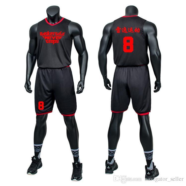 c7007e697924d Compre Personalizado LOGOTIPO Nombre Número Tamaño Grande Atlético Adulto  Fútbol Jersey Camisetas Pantalones Hombres Sin Mangas De Baloncesto Jerseys  Camisa ...