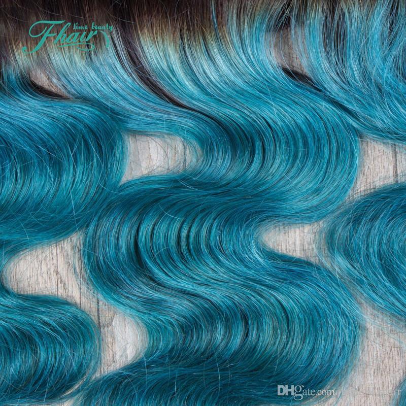 13 * 4 Top Qualität 1B Grün Brazian Haarspitze Frontal Verschluss Free Middle 3 Teil Körperwelle Burgundy Human Hair Lace Frontals