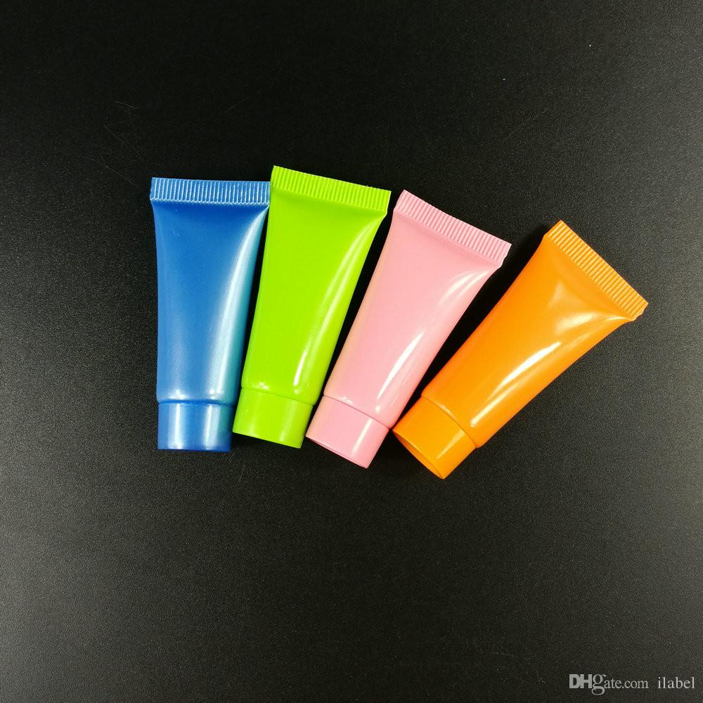 100 STÜCKE Mutil Farbe Flasche 10 ml Weichen Rohr Kosmetische Behälter, Creme Lotion Klare Leere Rohre