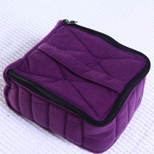 "30bottle Essential Oil Carrying Case Fashion Makeup Bag for Traveling Sturdy Double Zipper Beauty Case 5ml ,10ml ,15ml Bottles 4 ""H"