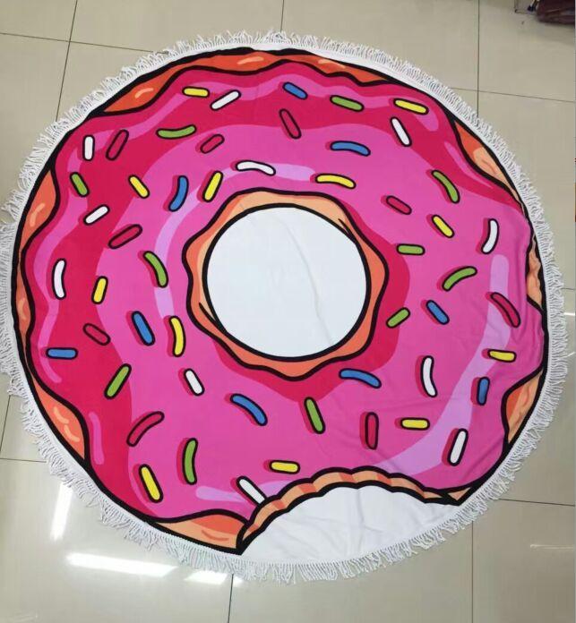 100% Algodão Donut Tassel Toalha De Praia De Espessura Rodada toalha de praia 150 * 150 cm Boemia Borla Malha toalha de praia cobertor Toalhas de praia 10 estilos