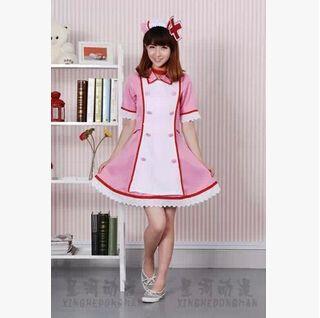 Ücretsiz kargo! Hatsune Miku Vocaloid Aşk Koğuş Renk Cosplay Kostüm Elbise Hemşire Nokta