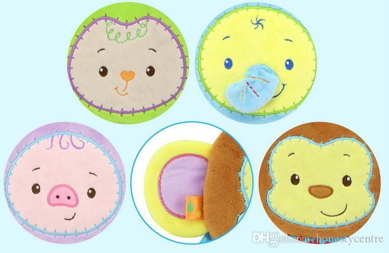 Porco roxo dos desenhos animados / elefante azul / verde ovelha / macaco / toalha de tecido confortável esfregar as luvas de banho toalhas Cuozao