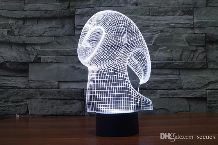 2017 Призрачный дух 3D Optical Night Light 9 светодиодов Night Light DC 5V завод оптовой